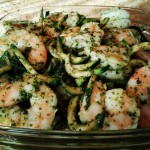 Pesto Shrimp & Zoodles